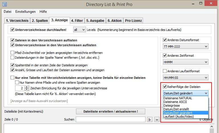 MP3 Liste erstellen und formatieren