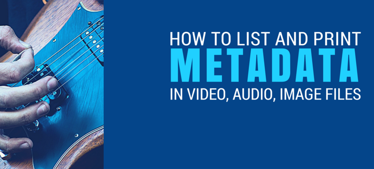 How To Read Metadata From Your Files