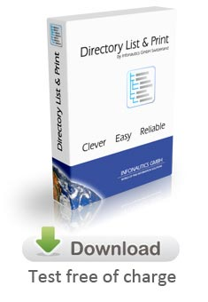 Free Download of Directory List & Print