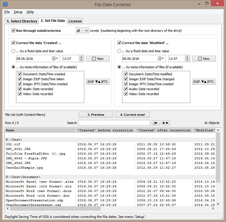 File Date Corrector - Restore Original Creation Date