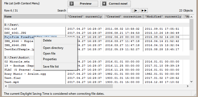 """Correct """"Date Created"""" and """"Date Modified"""" with File Date Corrector"""