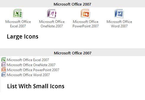Display of My Start Menu for Windows