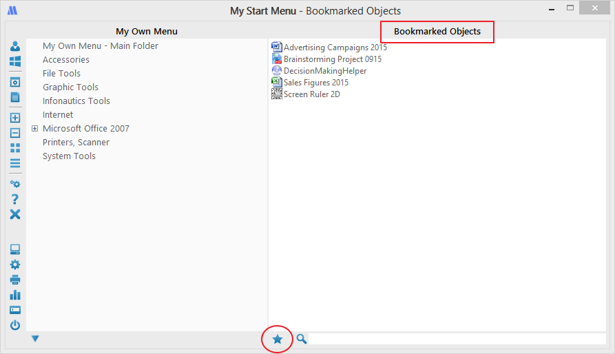 Bookmark Menu Items in My Start Menu for Windows