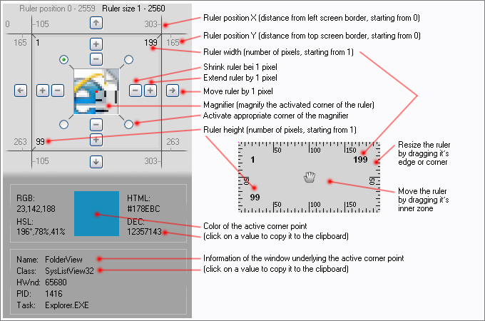 Features of Screen Ruler 2D